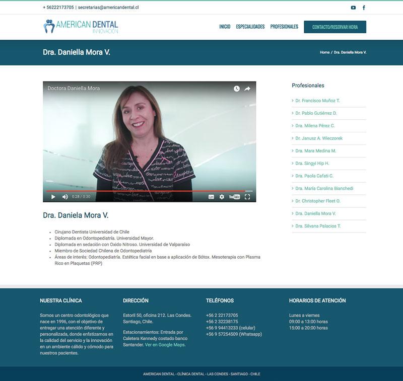 sitio-web-american-dental-doctora - Sociable