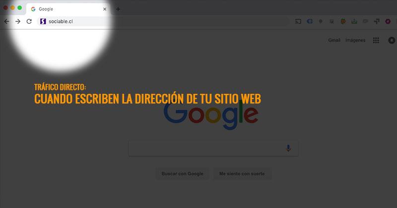 Página web - Tráfico directo